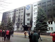 Revolución en Khmelnytsky. Ucrania fotografía de archivo libre de regalías