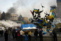 Revolución en Kiev Foto de archivo libre de regalías