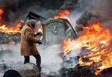 Revolución en Ucrania. imagen de archivo libre de regalías