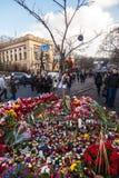 Revolución ucraniana, Euromaidan después de un ataque del gobierno f fotos de archivo libres de regalías