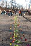 Revolución ucraniana, Euromaidan después de un ataque del gobierno f imagen de archivo libre de regalías
