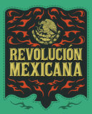 Revolucion Mexicana - mexican revolution spanish text Stock Images