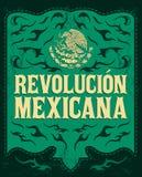 Revolucion Mexicana - spanjor för mexikansk revolution royaltyfri illustrationer