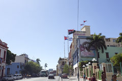 Revolucion propaganda billboard posted by the goverment. Santiago de Cuba, Cuba - December 29, 2015: Revolucion propaganda billboard posted by the goverment in Royalty Free Stock Image