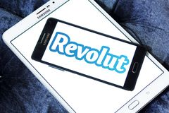 Revolut digital banking logo stock images