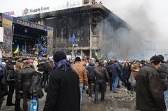 Revolutie in Kiev, de Oekraïne Royalty-vrije Stock Afbeelding