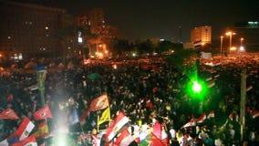 Revolutie 30 van Egypte Juni stock footage