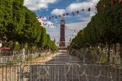 Revolutievierkant in Tunis Stock Foto