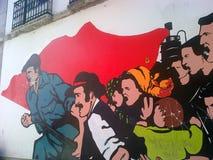 Revolutionära grafitti royaltyfria bilder