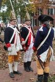 revolutionära krigsoldater för 18th århundrade Royaltyfria Bilder