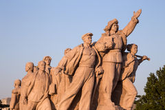 Revolutionäre Statuen am Tiananmen-Platz in Peking, China Lizenzfreies Stockfoto