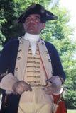 Revolutionären kriger Reenactment som är med full besittningsrätt, NJ, den 218 Arkivfoto