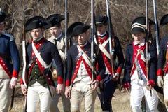Revolutionären kriger reenactors Royaltyfri Bild