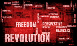 Revolution. In Political or Technical Concept Art Royalty Free Stock Photos