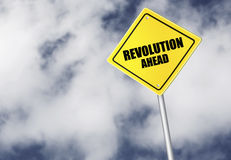 Revolution ahead sign Stock Images