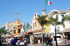 Revolution Avenue in Tijuana, Mexico Royalty Free Stock Photo