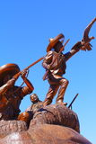 Revolution fighters I. Revolution fighters monument, as part of the zacatecas city, mexico stock images