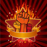 Revolution fist Royalty Free Stock Images
