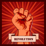Revolution fist creative poster concept. Royalty Free Stock Photography