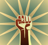 Revolution fist Royalty Free Stock Photography