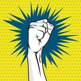 Revolution fist pop art  illustration Royalty Free Stock Photography