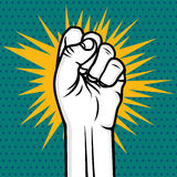Revolution fist pop art Stock Photos