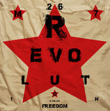 Revolution Freedom Propaganda Poster. Design Royalty Free Stock Image