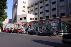 Revolution Graffiti. Cairo, Egypt - the Egyptian revolution inspired Egyptian artists to express their views and demands using graffiti. Here, the artist is Stock Images