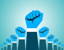 Revolution Hand. Concept revolution illustration. Vector flat Stock Photo