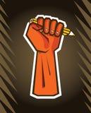 Revolution hand holding pencil. Vector illustration vector illustration
