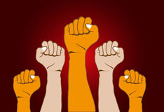Revolution hands background Royalty Free Stock Photos