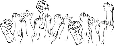 Revolution Hands Up Stock Images