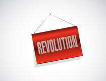 Revolution hanging banner illustration Stock Photo