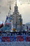 Revolution i Kiev Arkivbild