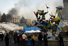 Revolution i Kiev Royaltyfri Foto