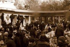 Revolution i Kiev Arkivfoto