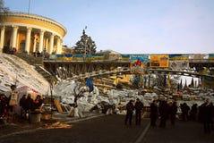 Revolution i Kiev Royaltyfri Fotografi