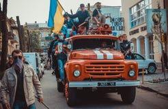 Revolution i Odessa Arkivfoto