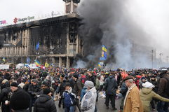 Revolution i Ukraina royaltyfria bilder