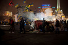 Revolution i Ukraina Royaltyfria Bilder