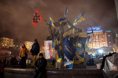 Revolution i Ukraina Arkivbild