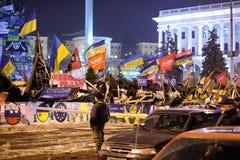 Revolution i Ukraina Arkivfoto