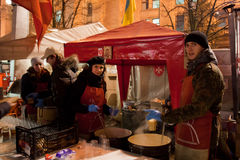 Revolution i Ukraina Royaltyfri Foto
