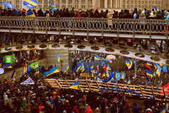 Revolution i Ukraina Royaltyfria Foton