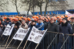 Revolution in Kharkiv (22.02.2014) Royalty Free Stock Photos