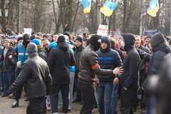 Revolution in Kharkiv (22.02.2014) Royalty Free Stock Photography