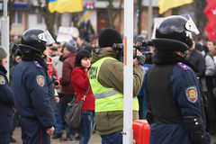 Revolution in Kharkiv (22.02.2014) Royalty Free Stock Images