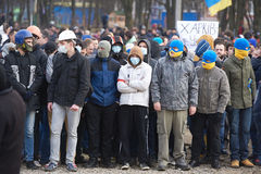 Revolution in Kharkiv (22.02.2014) Royalty Free Stock Image