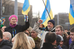 Revolution in Kharkiv (22.02.2014) Stock Photography
