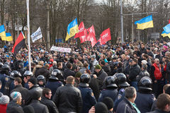 Revolution in Kharkiv (22.02.2014) Stock Photo